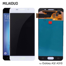 AMOLED/TFT For Samsung Galaxy A3 2016 A310 A310F SM-A310F LCD Display OLED Touch Screen Digitizer Assembly Adjust Bright цена и фото