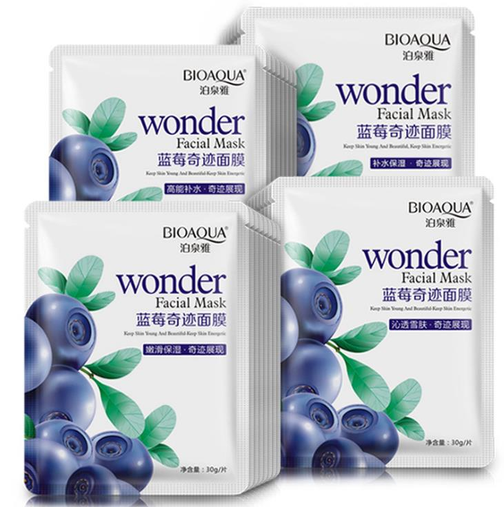 bioaqua blueberry facial mask sheet whitening skin lifting