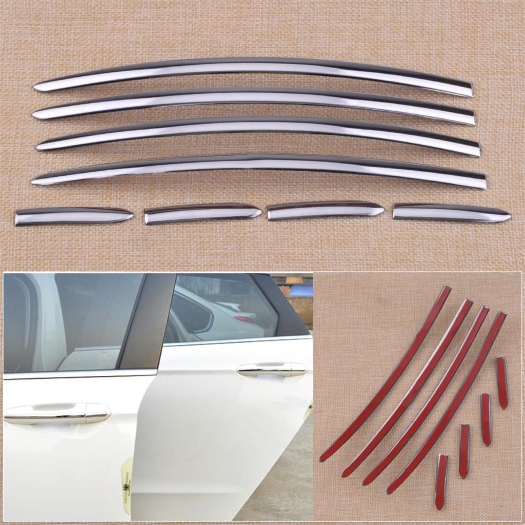 цена на CITALL Stainless Steel Chrome Car Door Handle Stripes Cover Trim Fit for Ford Fusion Mondeo 1.5T 2013 2014 2015 2016