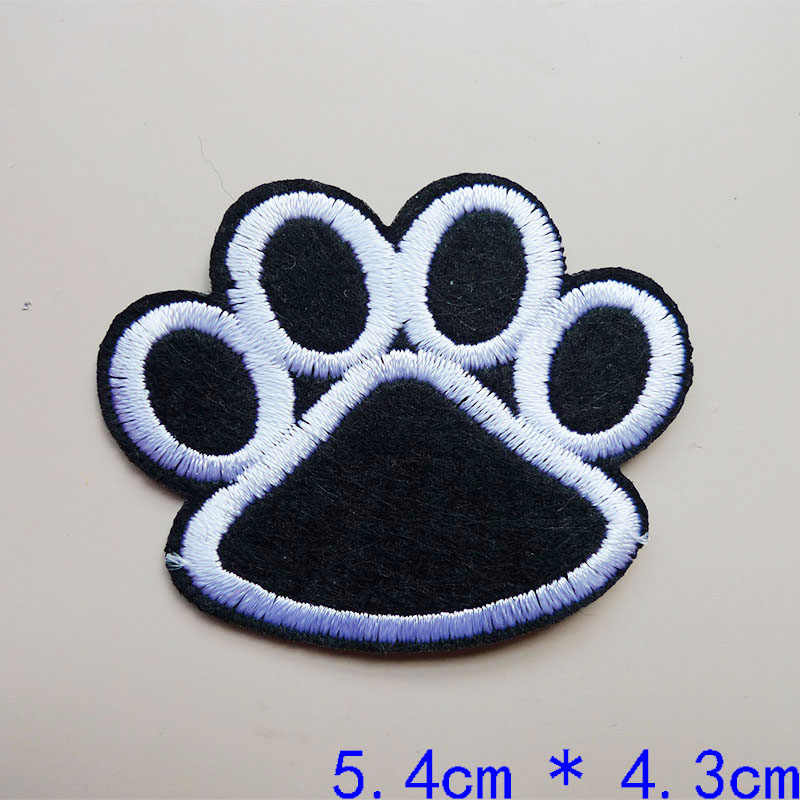 Black Footprint Bird  Embroidered Finger Applique Sewing Iron On Badges Patches for Jeans Clothes Garment Apparel Accessories