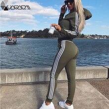 Women Pullovered Set Tracksuit Yoga Sport Wear For Women Long Sleeve Slit Solid Sweatshirts Two Piece Set Tops+Pants Sport Suit