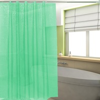2017 New PEVA 3D Translucence Waterproof Thicken Plaid Resists Mold Bathing Shower Bathroom Curtain 180 180cm