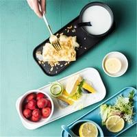 KINGLANG Nordic style matte breakfast set one person dishware spoon set household tableware Western breakfast plate