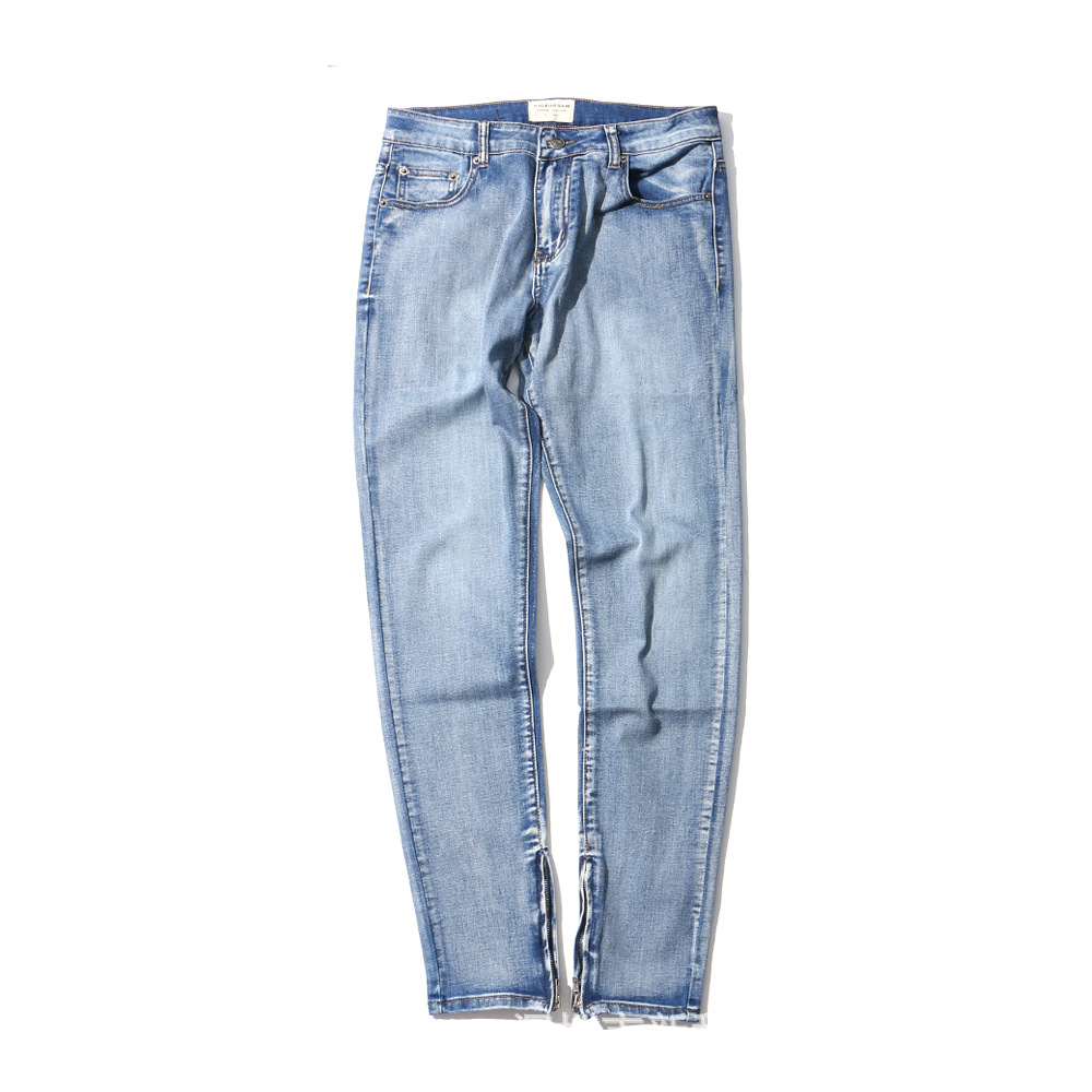 New Fashion Men Ripped Skinny Jeans Slim Fit Denim Straight Stretch Cottton Pant Casual Ankle Zipper Hip Hop Homme Jeans Pants