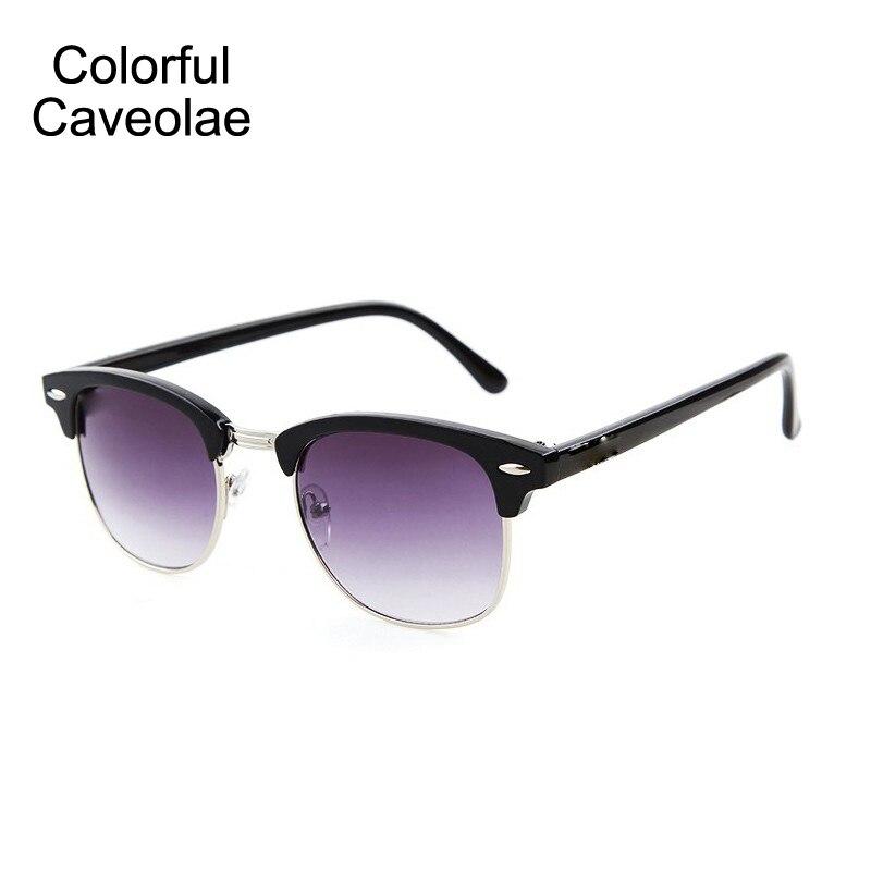 01cf45729 Colorido Caveolae Mulheres óculos de Sol Da Moda Retro Meia Armação Óculos  de Sol Mulher Casuais Populares do Sexo Feminino Óculos Escuros Unisex em  Óculos ...