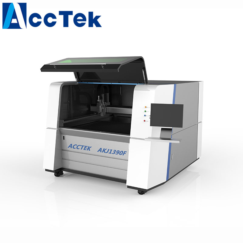 AKJ1390F Carbon Sheet Aluminum Fiber Laser Cutting Machine With Germany IPG 1000W 1500W