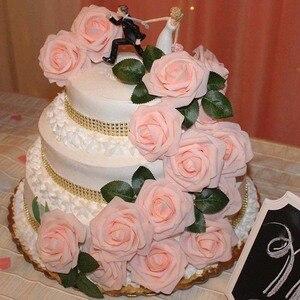 Image 3 - 10 Pcs Real Touch Künstliche Blume Latex Rose Blume Künstliche Bouquet Gefälschte Blume Braut Bouquet Verzieren Blumen Für Hochzeit