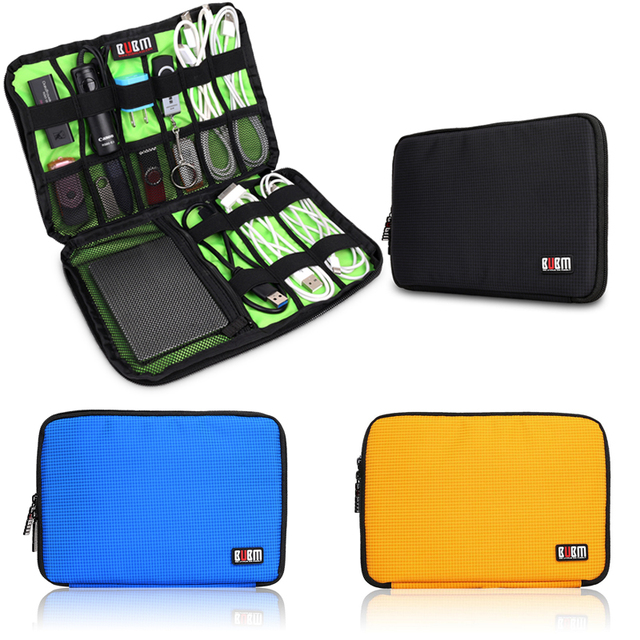 BUBM XS,S,M,L,XL Universal Double Layer Travel Gear Organizer / Electronics Accessories Bag / Battery Charger Case cable bag
