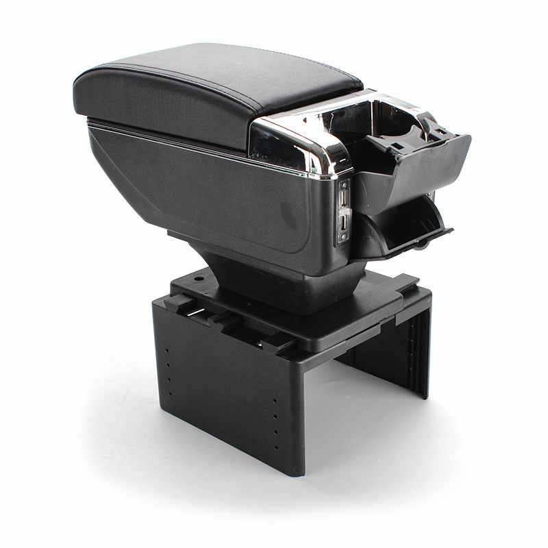 For lada priora armrest box USB Charging heighten Double layer central Store content cup holder ashtray accessories 01-15