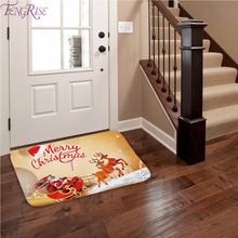 все цены на FENGRISE Flannel Merry Christmas Door Mat Rug Christmas Decoration for Home Navidad Christmas Ornaments 2019 Xmas Party New Year онлайн