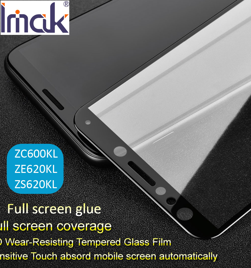 imak Pro+ Full Screen Glue Cover Tempered Glass For Asus Zenfone 5 5z Lite ZE620KL ZS620KL ZC600KL 2.5D Curved oleophobic