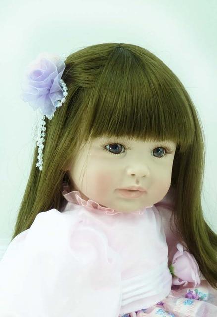 60cm Silicone Reborn Baby Doll Toys Lifelike 24inch Fashionable Vinyl Princess Toddler Girls Babies Doll Kids