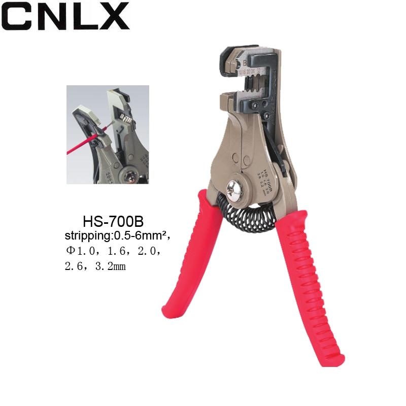 Werkzeuge Konstruktiv Hs-700b Automatische Abisolierzangen Multi-funktion Zange Draht Cutter Set Druck Frühling Werkzeug Strippen Kapazität 0,5-6mm2