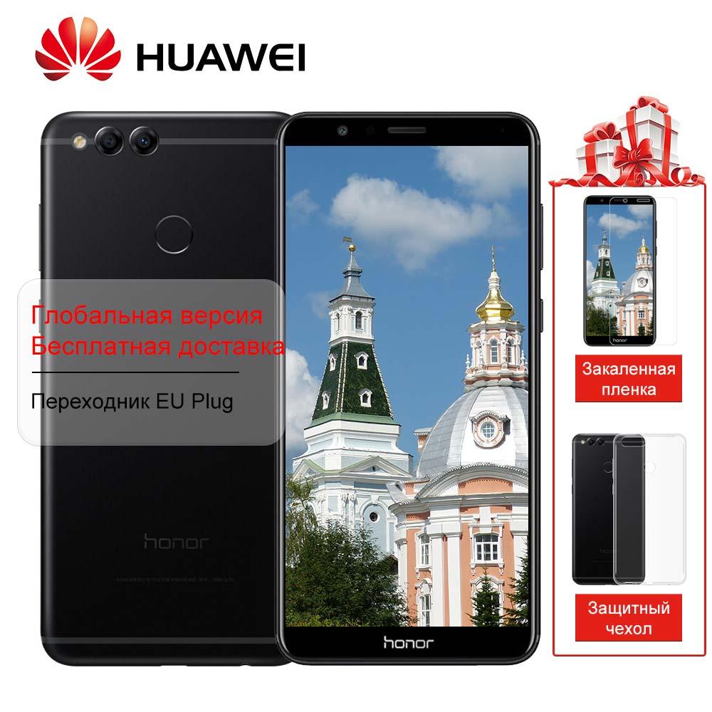 Globale ROM Huawei Honor 7X4 gb 32 gb 8MP + 16MP Posteriore Dual Camera 3340 mah 5.93 pollice 2160*1080 p Schermo di Visualizzazione Completa di Impronte Digitali
