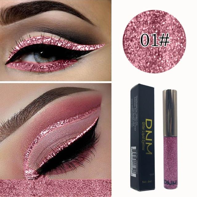 DNM brillo Flash líquido delineador de ojos maquillaje lápiz de larga duración de secado rápido brillo delineador de ojos lápiz impermeable conjunto cosmético TSLM1