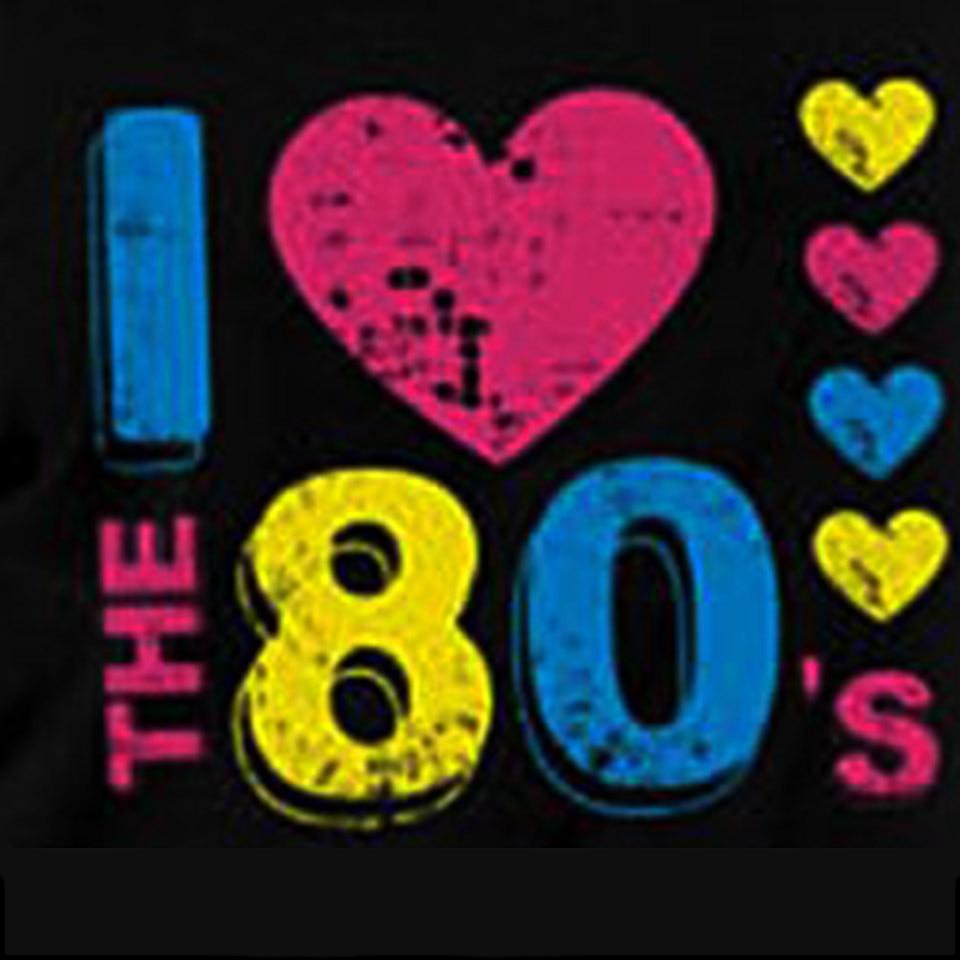 Womens Ladies I Love The 80s Neon Festive Summer Off Shoulder T-Shirt Vest Top