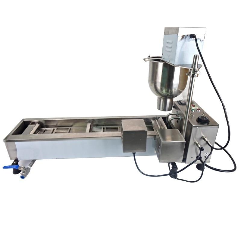 1 vnt automatinė spurga mašina, gaminanti automatinę nerūdijančio plieno skaičiavimo sistemą su 3 rinkinių formomis T-101 220V / 50Hz