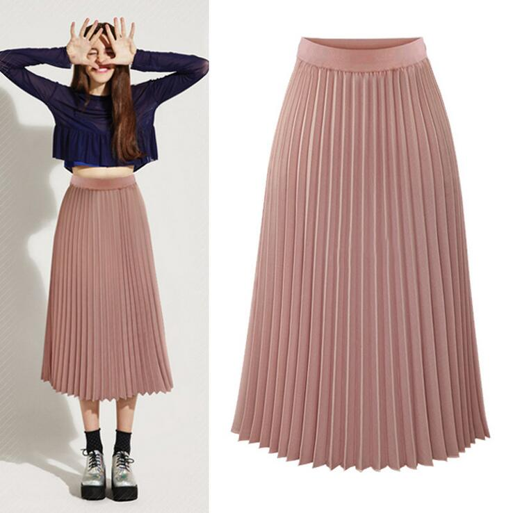 a96adf81ef Fashion Long Tulle Skirt Tutu Midi Summer Skirts Womens 2016 Slim Elastic  High Waist Skirt Jupe Longue Skater Pleated Skirts-in Skirts from Women's  Clothing ...