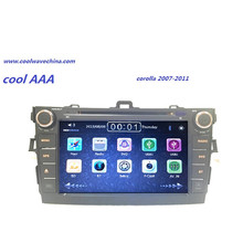 2din car dvd player for Toyota Corolla 2007 2008 2009 2010 2011 Dual Core 8 inch 800*480 screen car radio wifi for toyota corolla support year 2007 2008 2009 2010 with 3g wifi multi touch screen car dvd gps navigation build in bluetooth radio with rds analog tv aux