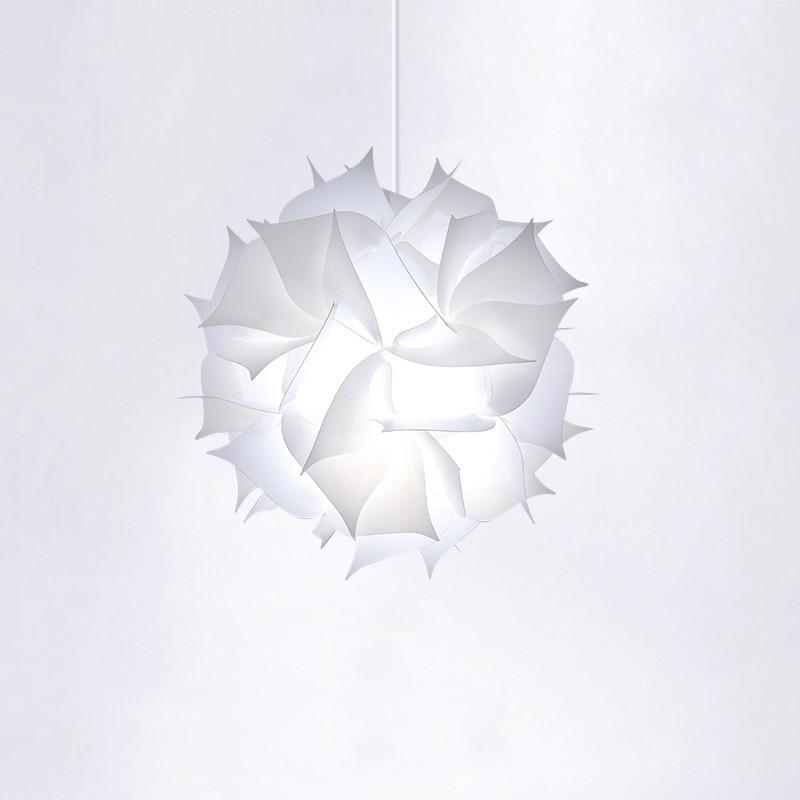 Nordic Flower Modern DIY Elements IQ Jigsaw Puzzle ZE Lamp Ceiling Chandelier Pendant Lamp Ball Light Lighting 30.5cm