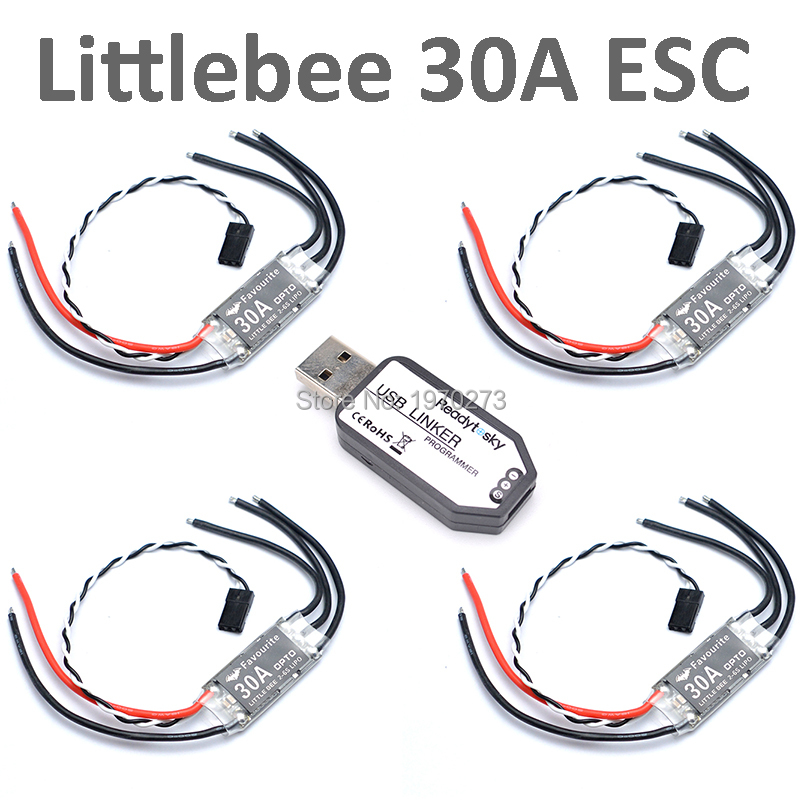 Original Favourite Littlebee 30A 2~6S OPTO ESC Brushless Speed Controller + Mini USB Linker Programmer For FPV Racing Drone-in Parts & Accessories from Toys & Hobbies    1