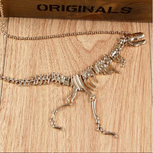 ティラノサウルスレックススケルトンスカルペンダントネックレス(4バリアン)