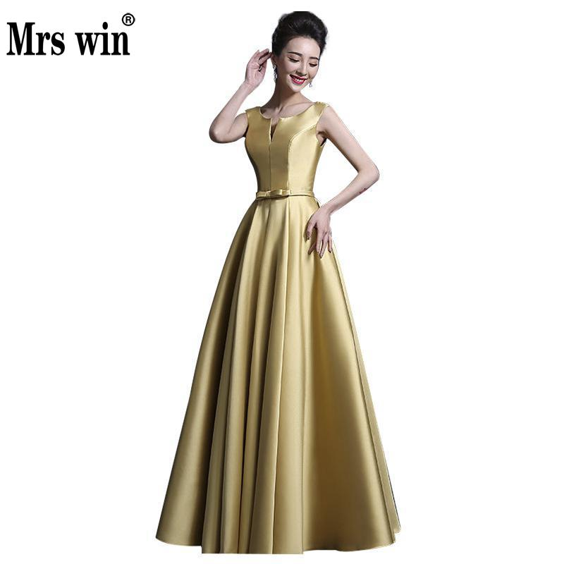 Vestido De Festa 2018 New Luxury Long   Evening     Dress   Satin Bridal Banquet Elegant Purple Formal   Dress   Plus Size Prom Party Gown