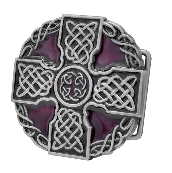 Celtic Iron Cross Maltese Intricate Belt Buckle Decorative