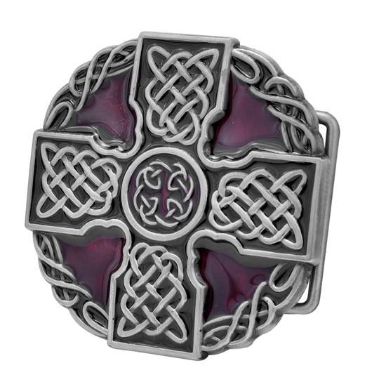 Celtic Iron Cross Maltese Intricate Belt Buckle Decorative