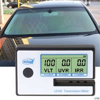 New LS162 Window Tint Meter Solar Film Transmission Meter VLT UV IR Rejection Tester