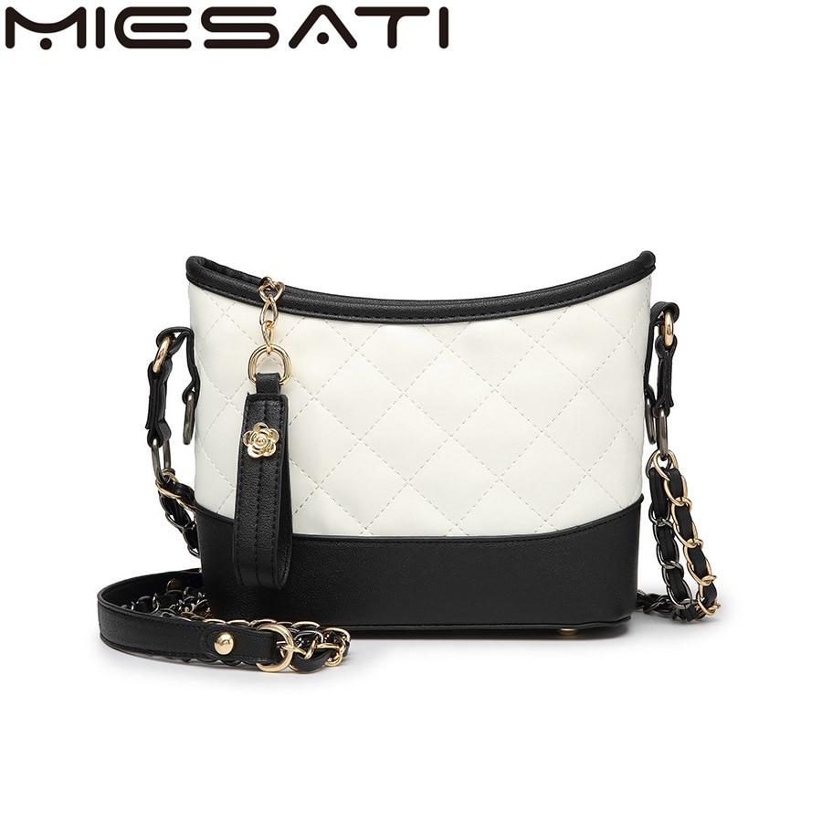 MIESATI brand Crossbody bags Rhomboid Lattice women package handbag High quality ladies hand bag Novelty of 2017 Hot Female Bag