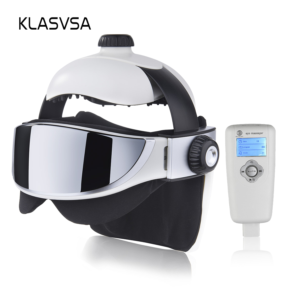 все цены на KLASVSA Electric Head Neck Massager Far Infrared Heating Vibration Eye Mask Massage Air Pressure Muscle Stimulator Health Care онлайн
