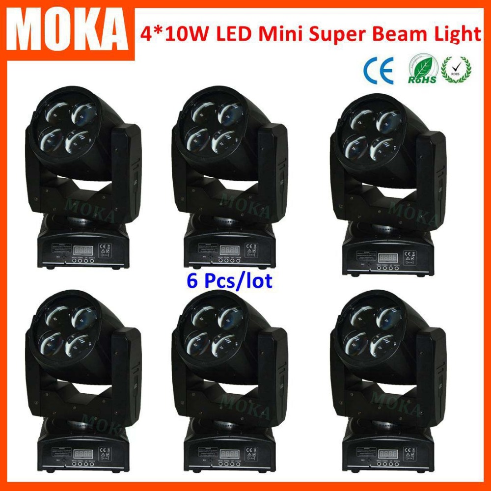 6 Pcs/lot Cree 4x10W RGBW 4 in 1 quad mini movinghead led wash light LED stage lights super beam effect DMX 4/16 channels6 Pcs/lot Cree 4x10W RGBW 4 in 1 quad mini movinghead led wash light LED stage lights super beam effect DMX 4/16 channels