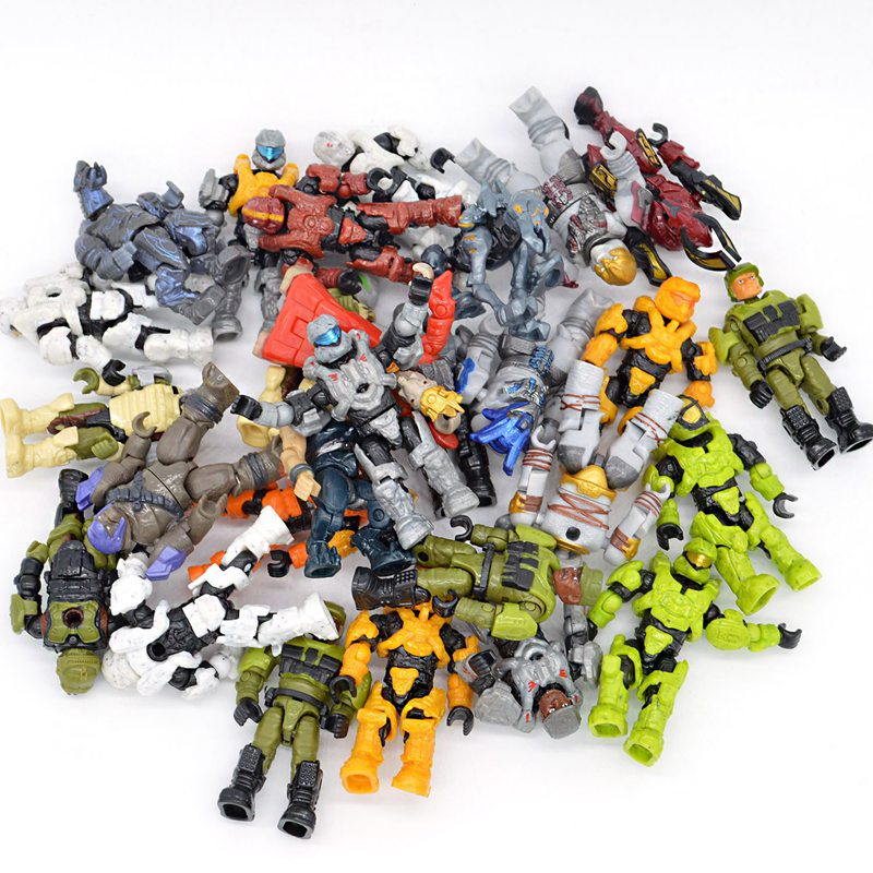 10/20/50pcs lot Halo Wars Random Styles Building Blocks Bricks Games Kids Gifts Toys with Weapons Guns wars guns and votes