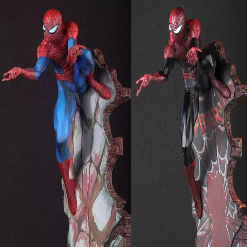 Spider Man Figure Marvel Crazy Toys Spiderman The Amazing Spider-man PVC Action Figure Collectible Model Toy 2 Styles 18 KT1932 spiderman toys marvel superhero the amazing spider man pvc action figure collectible model toy 8 20cm free shipping hrfg255