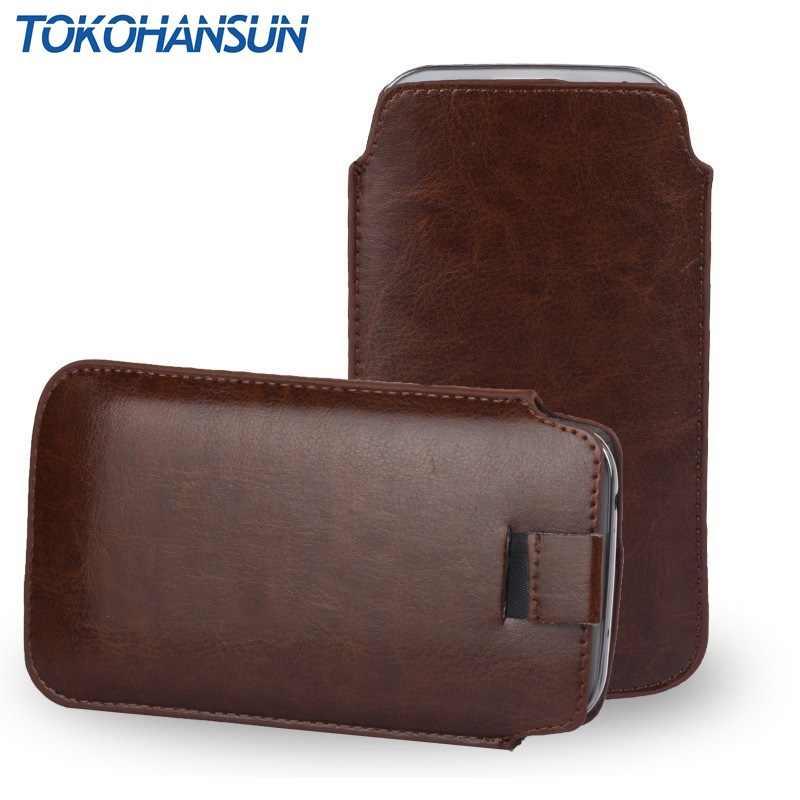 Housse de téléphone universelle pour samsung s5610 pour nokia c7 150 double SIM pour PHILIPS XENIUM E168 PU housse de sac en cuir