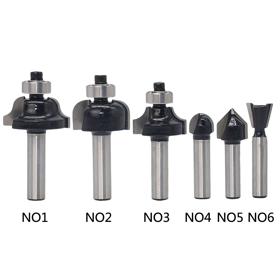 8mm Shank Wood Router Bit Straight End Mill Trimmer Cleaning Flush Trim Corner Round Cove Box Bits Tools Milling Cutter