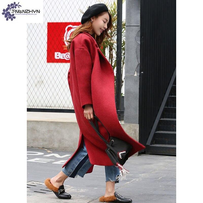Mode Chantiers Lâche Femmes Nouvelle Laine Grands Tnlnzhyn fin Tissu Haute black Qq628 Longue Survêtement Vêtements Chaud Manteau Red De D'hiver Dames zd8XXnv7wq
