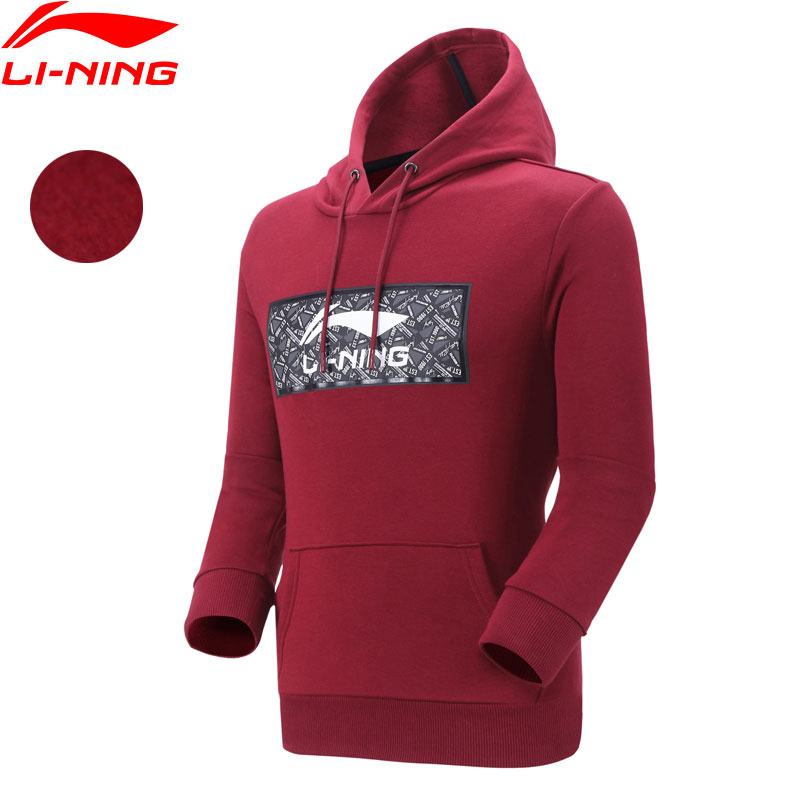 (Break Code)Li-Ning Men The Trend Hoodie Fleece 62%Cotton 38%Polyester Regular Fit LiNing Li Ning Sport Sweaters AWDN799 MWW1520