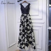 C V New Fashion Banquet Evening Dress 2017 Long Design Fashion Slim Sexy V Neck Noble