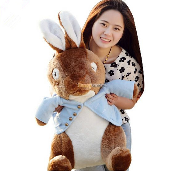 Fancytrader 31'' / 80cm Fashion Giant Stuffed Soft Plush Peter Rabbit Toy, Nice Gift For Babies and Kids, Free Shipping FT50447 fancytrader new style fashion banana toy 31 80cm big plush stuffed cute banana birthday gift kids gift free shipping ft90528