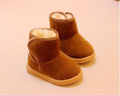 Top quality 2017 winter boots for boys and girls snow boots Natural wool kids Non slip