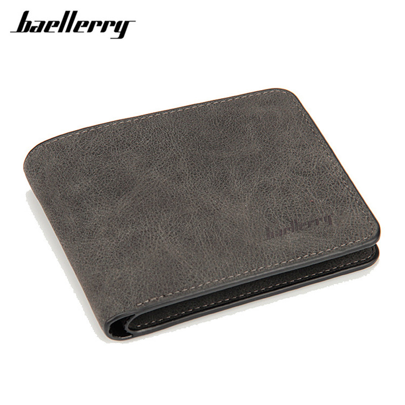 Men Short Wallets Men High Quality PU Leather Purses Nubuck Card Holder Wallet Fashion Causal Zipper Coin Purses 2017 Baellerry high quality wallet pu fashion design large capacity men purses card holder coin pocket for man