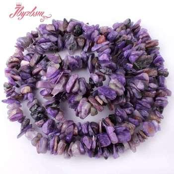 562b69cc4e57 5-8mm de forma Irregular púrpura druzy Chips cuentas de piedra Natural para  DIY collar Bracelat joyería 34
