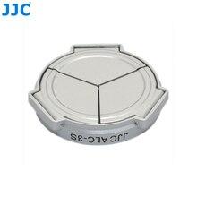 JJC Camera srebrny samozaciskowy otwarty zamknięty ochraniacz automatyczna osłona obiektywu do PANASONIC DMC LX3/Leica D Lux4 (srebrny)
