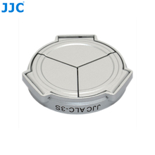 JJC Серебряная самоудерживающаяся Защитная крышка для камеры, автоматическая крышка объектива для PANASONIC, для Leica, для PANASONIC, для PANASONIC, для Leica, с защитой от близкого расстояния, для PANASONIC, для PANASONIC, для Leica, с функцией закрывания, с защитой от близкого расстояния, для PANASONIC, С.