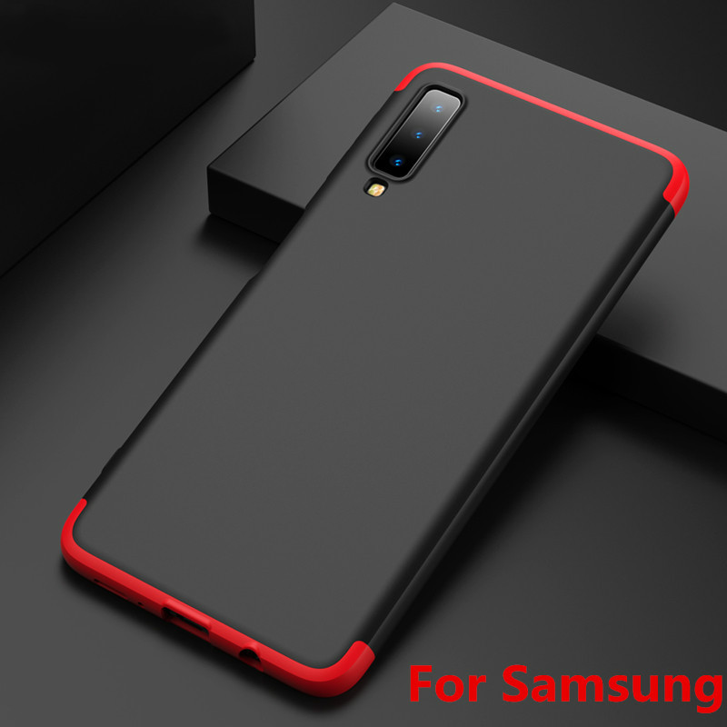 Fashion 360 Degree Hard Hybrid Plastic Phone Case For Samsung Galaxy S8 S9 Plus Note 8 9 A6 A7 A8 2018 J8 J4 J6 Prime Cover Capa in Fitted Cases from Cellphones Telecommunications