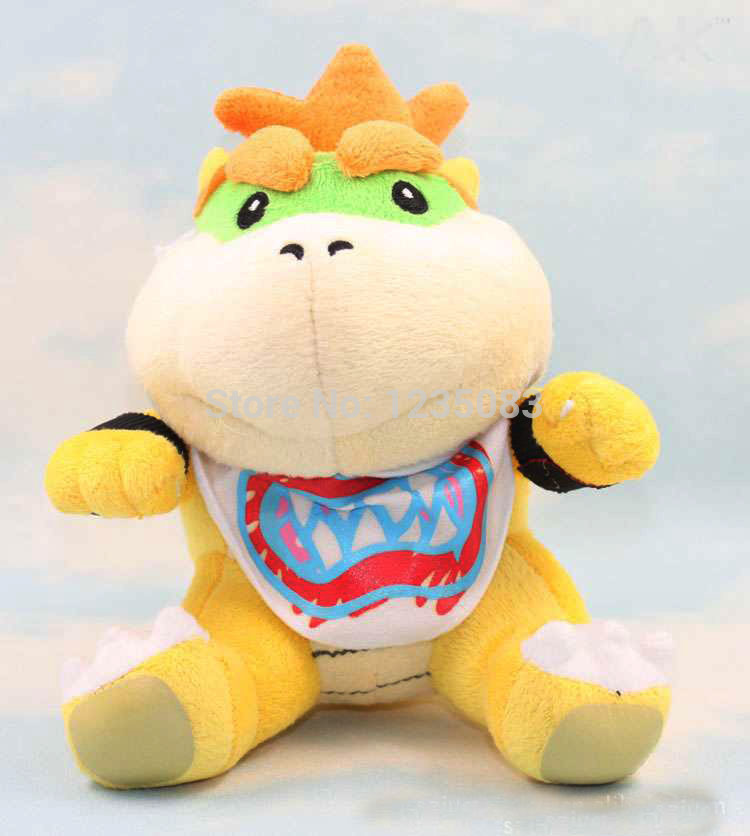 US $6 64 5% OFF|Super Mario World 2 Plush Koopa Jr  Baby Bowser Soft Toy  Character Stuffed Animal Doll 18CM-in Movies & TV from Toys & Hobbies on