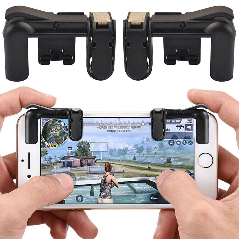 1pair Mobile Phone Gamepad Trigger V3.0 For iPhone for Android Phone Games Fire Button Aim Key L1R1 Shooter Controller PUBG FUT1