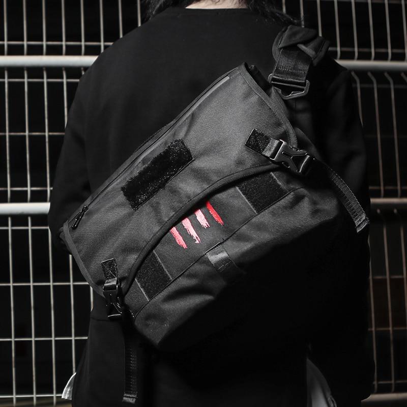 Black Paw Bicycle Boy Large Capacity Sports Laptop Messenger Bag Men Crossbody Skateboard Shoulder Bags Teenager Bike Sport Bag